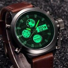 Мужские часы с хронографом, роскошный бренд, спортивные, светодиодный, цифровые, военные часы, модные, повседневные, армейские, кварцевые часы, relogio masculino