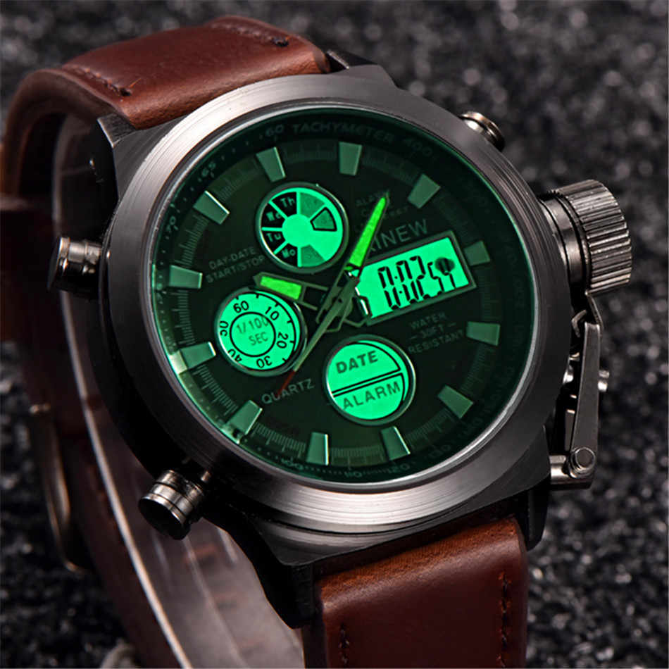 2018 chronograph Watches men luxury brand Sports LED digital Military watches Fashion casual Army quartz watch relogio masculino
