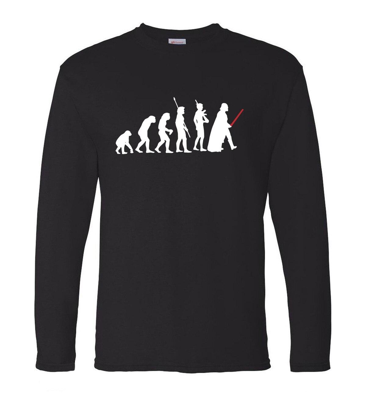 Star wars Darth Vader Evolution hip hop men long sleeve T-shirts fashion men t shirt 2019 spring 100% cotton slim men top tees