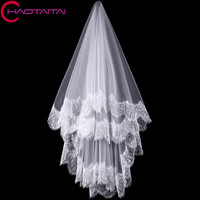 Delicate One Tiers Eyelash Wedding Veils Lace Edge Bridal Veil Wedding Accessories 2017