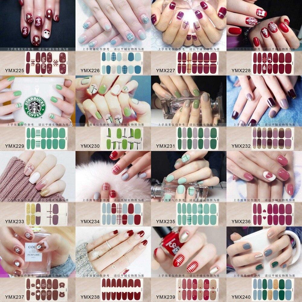Analytisch Nail Art Full-cover-aufkleber Blatt 14 Tipps Aufkleber Nagellack-aufkleber Ymx225-240 Verkaufspreis