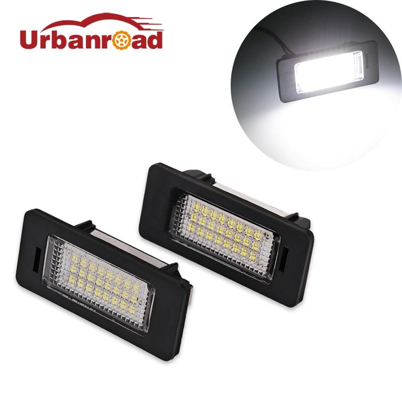 Urbanroad 2шт автомобилей светодиодные номерной знак лампа для Audi Q5 и А4 А5 А6 А7 ТТ TTRS номерного знака лампы освещения для Ауди А4 В5