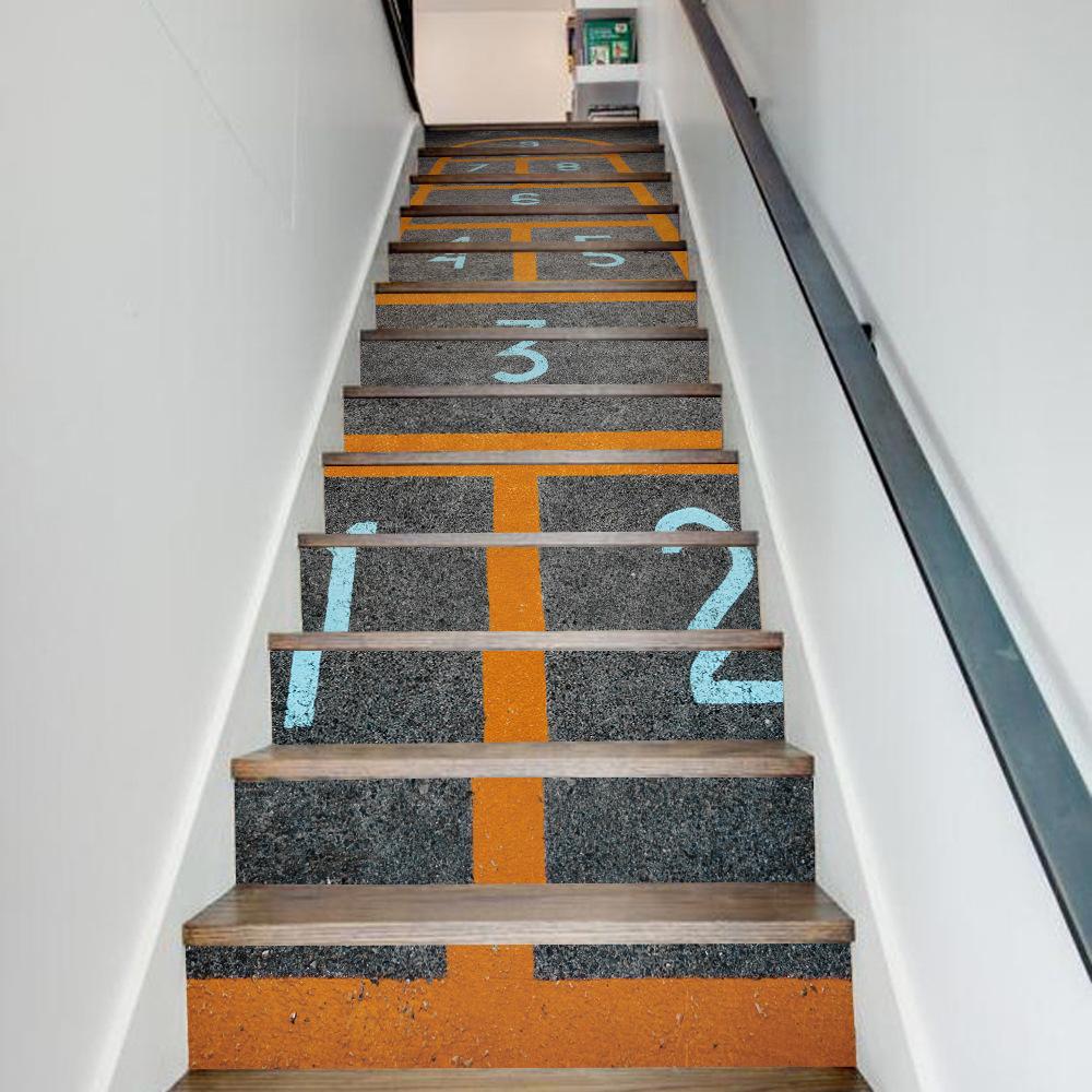 unidsset creativo diy d escalera pegatinas casa salto patrn juego de decoracin gran