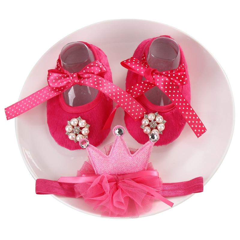 2016 új lány csecsemő tiara baba cipő fehér első gyalogosok, újszülött baba cipő, kisgyermek cipő gyöngy boot fejpántok készlet