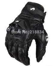 オートバイの手袋サイクリング手袋本革のクールなモーター手袋 ml xl afs6/10/18