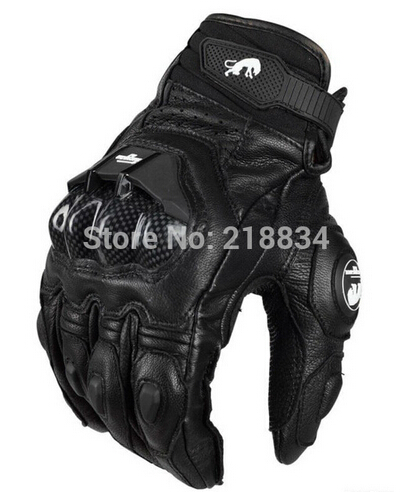 Free Shipping  Afs6/10/18 Motorcycle Gloves Racing Gloves Cycling Glove Genuine Leather Cool Motor Gloves M L XL