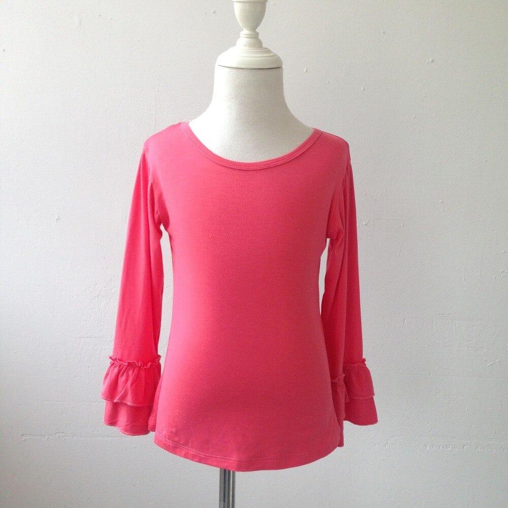 Wholesale Cotton autumn winter Girls blank long sleeve ...