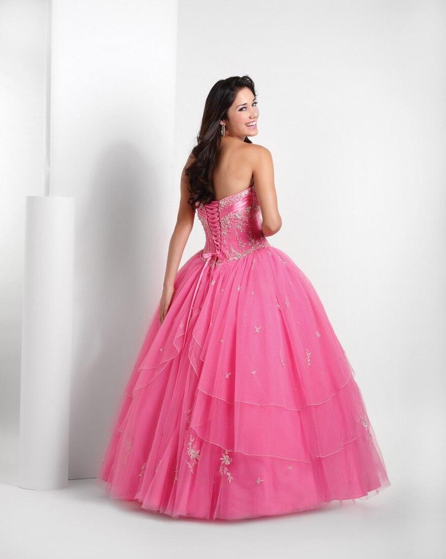 Hot Pink Quinceanera vestidos apliques Trajes De quinceañera balón ...