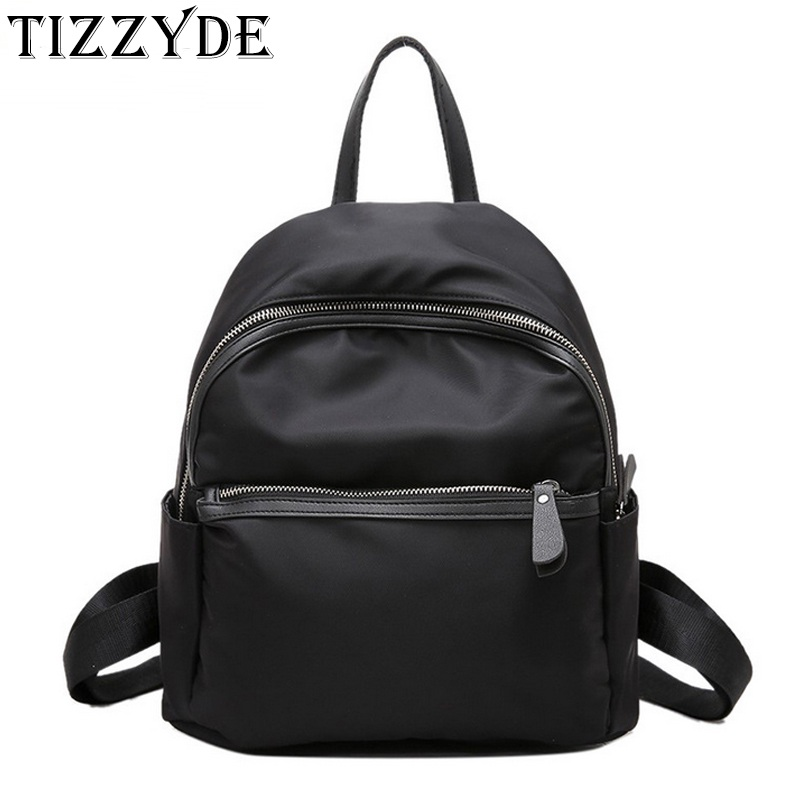 Mochila Feminina 2020 Women Korean Fashion Design Backpack Travel Nylon Light Water-proof Small Rucksack Navy Green Black ZZL01