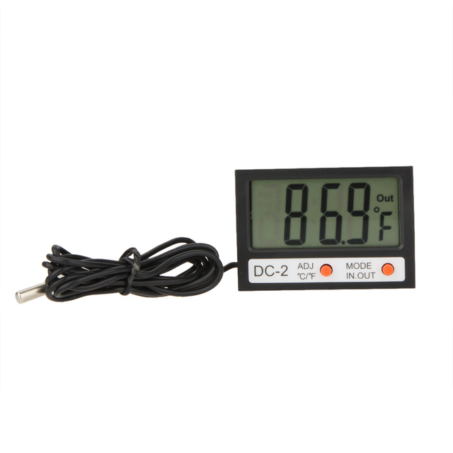 LCD Digital Thermometer Sensor Clock Weather Station Indoor Outdoor Mini Temperature Meter  Temperature Instruments C F