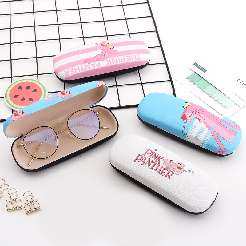 High Quality Cartoon Glasses Box Matel Hard Cover Eyeglasses Protector Spectacel Eyewear Case For Women Glasses Cases