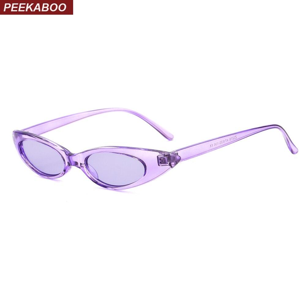 Peekaboo roxo do olho de gato óculos de sol das mulheres pequeno tamanho rosa  vermelha verão 7ad2302122