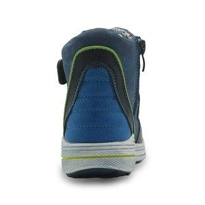 Image 4 - Apakowa autunno ragazzi stivali doppio gancio e passanti stivali a molla per bambini con Design a Zip per bambini bambini gambe larghe vestito scarpe per bambini