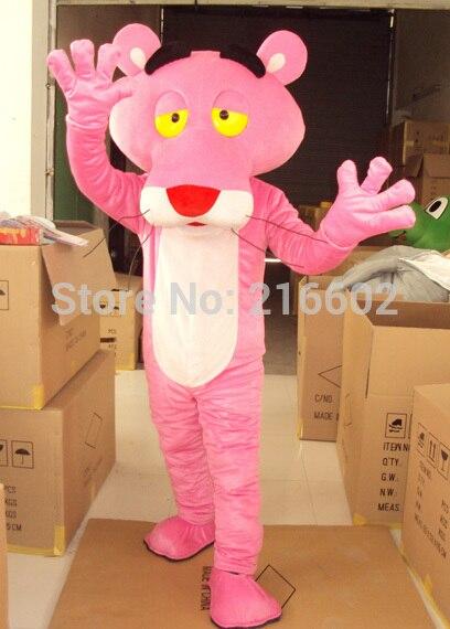 Haute qualité adulte rose panthère mascotte Costume ventes fantaisie robe rose panthère mascotte Costume livraison gratuite