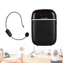 лучшая цена APORO T3 Bluetooth Speaker FM Radio TF Card Music Player With UHF Wireless Microphone Noise Reduction Mini HiFi Voice Amplifier