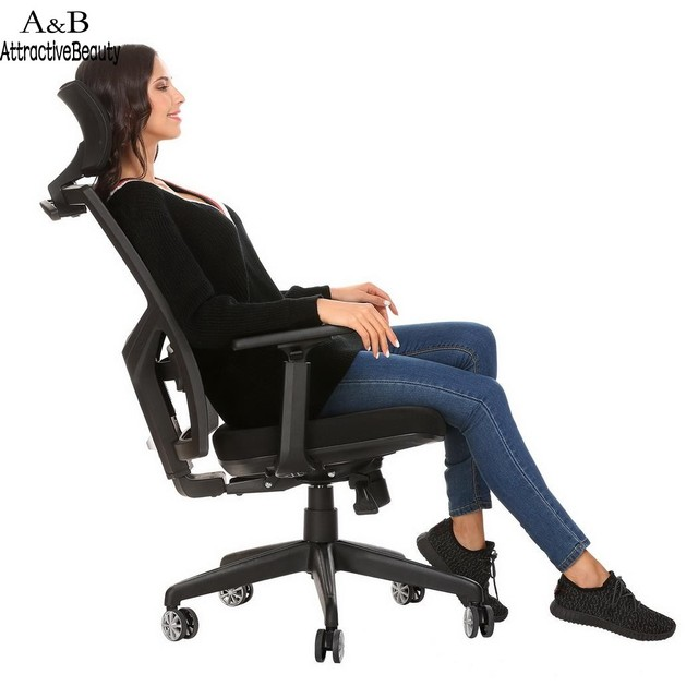 Homdox Lift Chair Office Computer Chairs Ergonomic Mesh High Back Office  Chair With Armrest And Adjustable