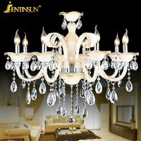 2016 New LED E14 Lamps Dining Room Gold Modern Crystal Chandelier Lights Factory Wholesale Free Shipping