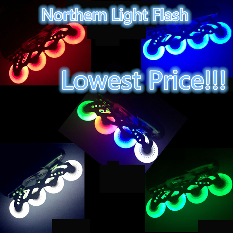 Free Shipping LED Flash Wheel 80mm 76mm 72mm 70mm 68mm 64mm for Inline Skates 90A for Adults Kids SEBA RB Roller Wheels action figure pokemon