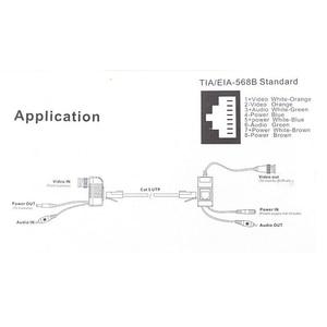 Image 5 - 1CH pasywna wydajność wideo złącza RJ45 Balun do kamera telewizji przemysłowej DVR darmowa wysyłka