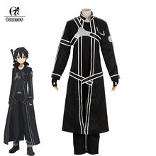 ROLECOS Sword Art Online Cosplay Costume Kazuto Kirigaya Anime Cosplay Costume Game Costume Men Alicization Halloween Full Set(China)