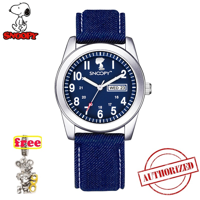 SNOOPY Top Brand Military Watches Men Fashion Casual Canvas Leather Kids Sport Quartz Wristwatches Male Clock Relogio Masculino