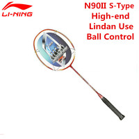Li Ning Лин Дан Чемпион ракетки для бадминтона Li Ning N90II S Тип мяч Управление внутри TB Nano Carbon волокна ракетки AYPF002 L537OLB