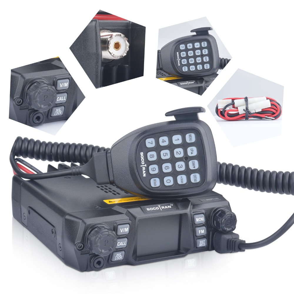 Image 4 - Mobile Ham Radio Transceiver VHF 75W UHF 55W High Power Mobile Car Radio Dual Band Quad Standby Vehicle Transceiver Station-in Walkie Talkie from Cellphones & Telecommunications