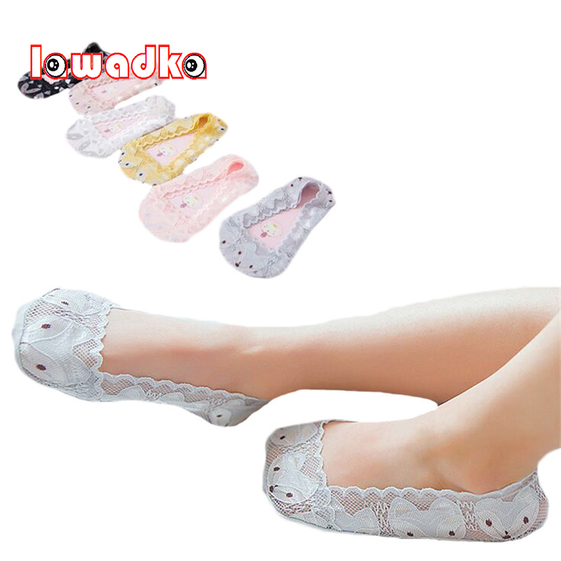 все цены на Lawadka Lace Kids Boat Socks Cartoon Fox Baby Kid Invisible Socks Kid Princess Girls Socks Summer Children Clothing Accessories