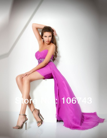 free shipping 2018 new design vestido de festa Formal Pageant sexy short beaded Elegant party prom gown   bridesmaid     dresses
