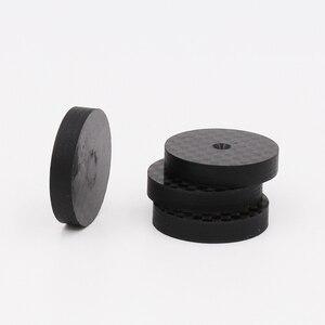 Image 3 - Isf0001 preto fibra de carbono alto falante isolamento 25x5mm spike base almofada sapato pés alta fidelidade 4 pçs