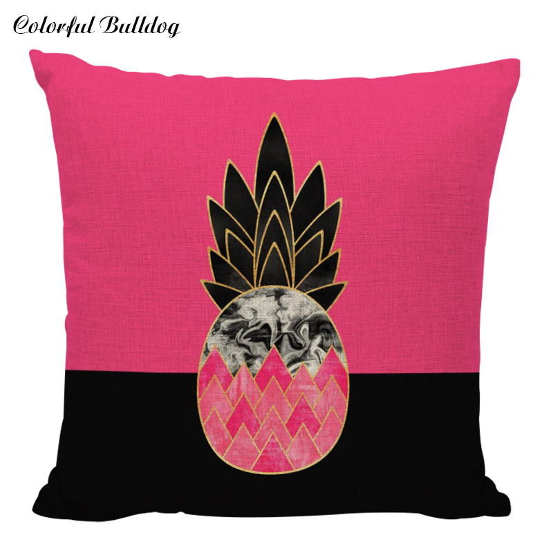 Tropical Fruit Cushion Covers Pineapple Watermelon Banana Custom Pillows Cover Geometry Baby Sofa Decoration Gifts