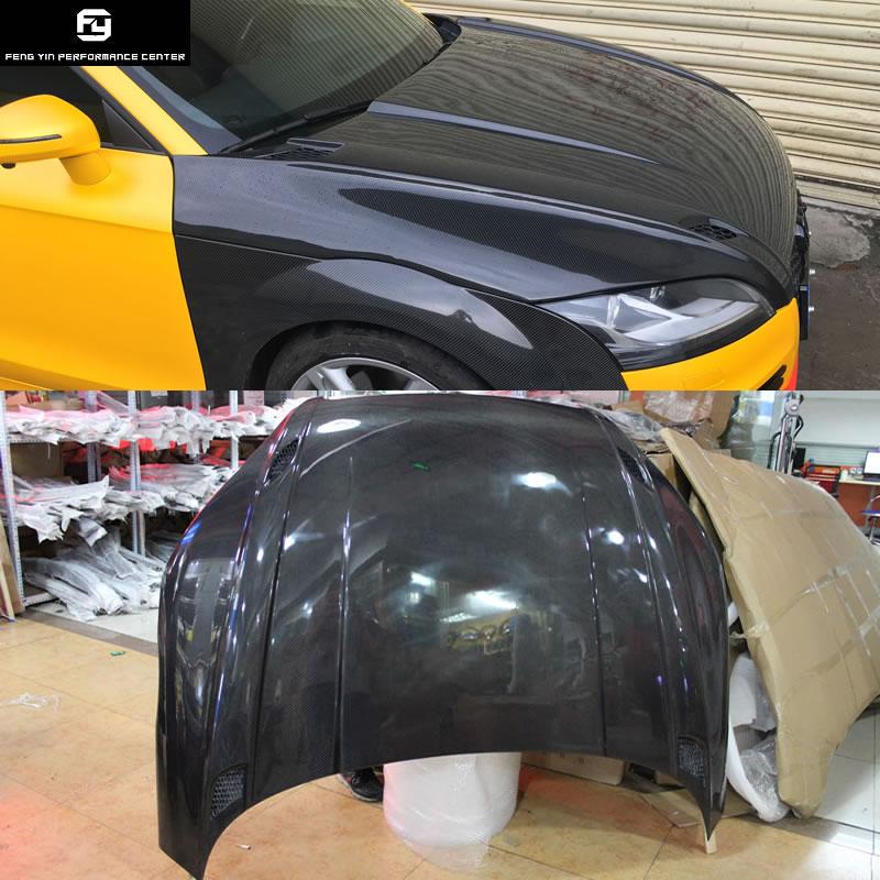 TT TTS TTRS מכסה מנוע סיבי פחמן אוטומטי רכב מצנפת מנוע כיסוי עבור אאודי TT TTS 2008-2014