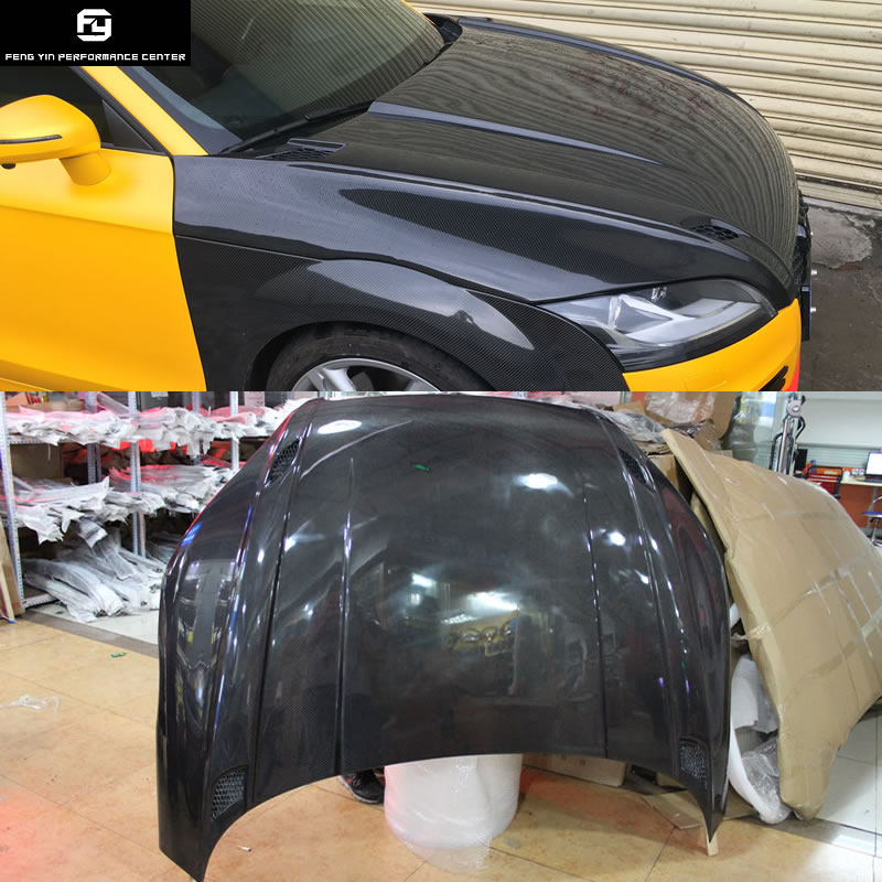 TT TTS TTRS motor kaputu Karbon fiber Oto Araba bonnet motor kapağı için Audi TT TTS 2008-2014