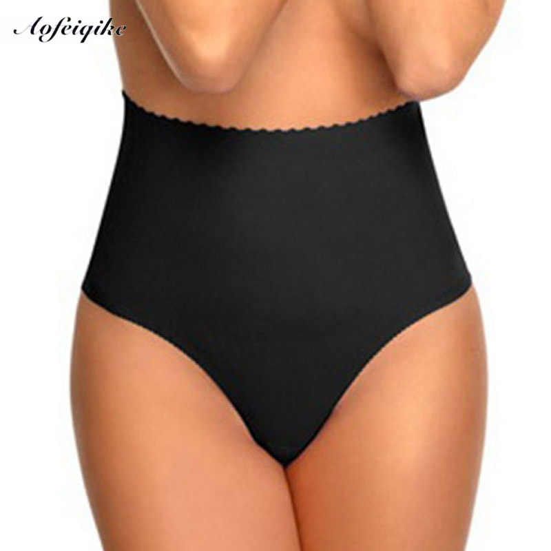Women's High Waist Tummy Control Body Shaper Briefs Slimming Pants Knickers Trimmer Tuck sexy thong S/M/L/XL high quality