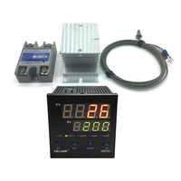 100V-240V pid digital temperature controller Max temperature range 1372 degrees Celsius+radiator+2M K Thermocouple+Max 40A SSR