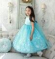 2017 Nuevos Niños se Visten Vestido de Princesa Elsa Chicas Fiesta de Cumpleaños Vestido de Traje de Carnaval Para Niños Niñas Ropa 3-10 Años