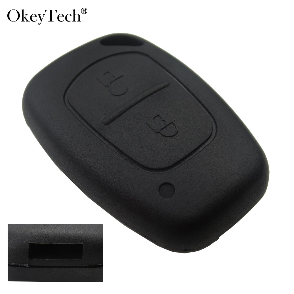 Okeytech 2 Button Remote Car Key Shell Case Fob Cover For Renault Traffic Master Vivaro Movano Kangoo For Nissan No Blade jingyuqin new 1 button uncut blade remote car key shell for renault twingo clio kangoo master no chip keyless entry fob case page 2