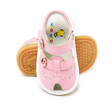 Baby Squeaky Shoes for Children pretty design Toddler Girls first walker Anti kick Toe cap Shoes