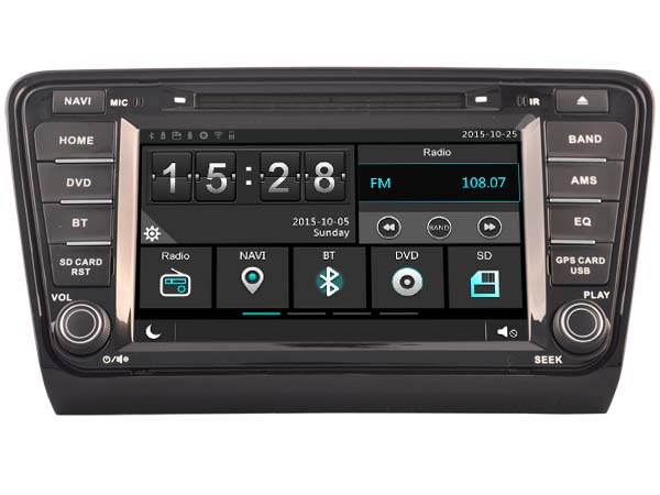 car gps dvd head unit radio for skoda octavia 2013 2014. Black Bedroom Furniture Sets. Home Design Ideas