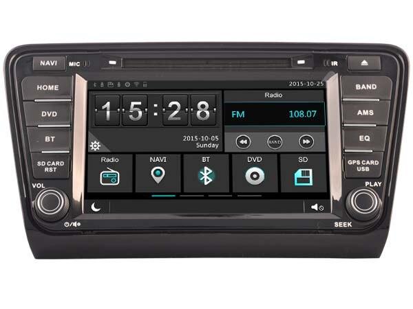 Car Gps Dvd Head Unit Radio for Skoda Octavia 2013 2014 Navi Phone Mirror Multimedia 3G WIFI DVR SWC 1080P Stereo after market