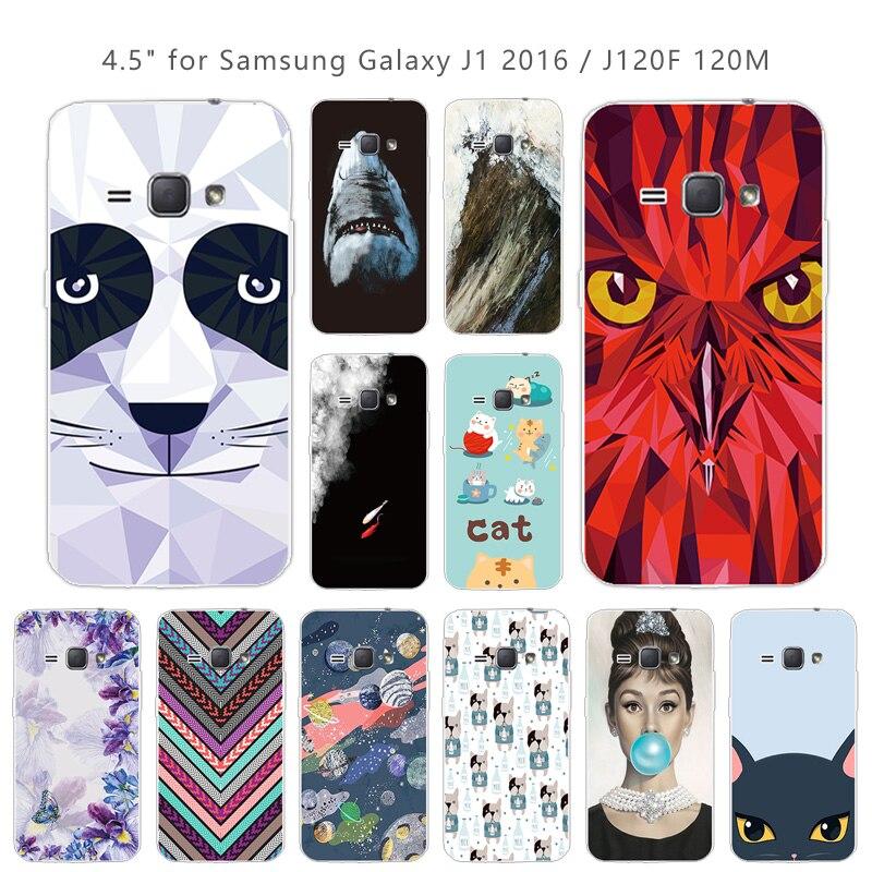 For Samsung Galaxy J1 2016 J120 J120F Soft Silicone Fundas Pieces Coque For Samsung J12016 J 1 2016 J 120 J120 F Phone Cases