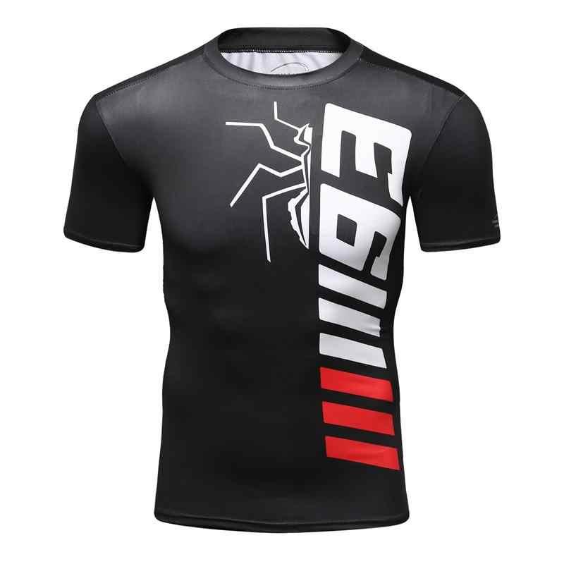 Vip (wiktor) t camisa de compressão dos homens mma ajuste músculo ufc luta superior muay thai t apertado fightwear motocicleta bjj