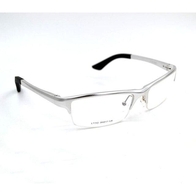 Alta Qualidade de Prata de Alumínio E Magnésio Óculos Ópticos Óculos De  Armação Metade quadro Sports 238a64957e