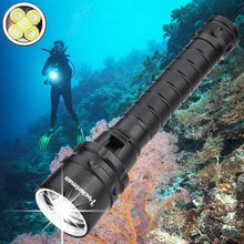 6000lums Diving Flashlight Torch 5*T6 Scuba Dive Torch UnderWater 220m Depth Waterproof Led Flashlights Lantern light