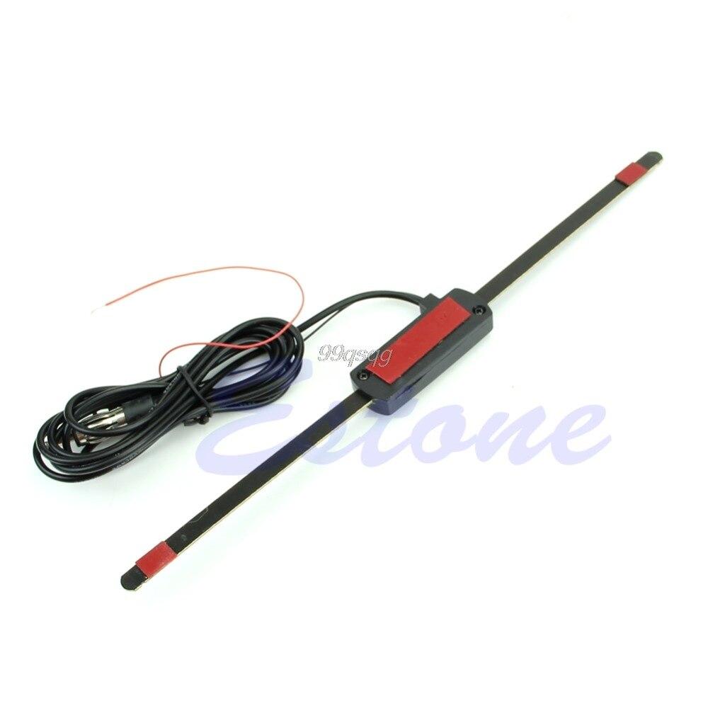 Electronic 12V Car Auto Windshield Mount Self Adhesive Base TV FM Radio Antenna Drop shipping
