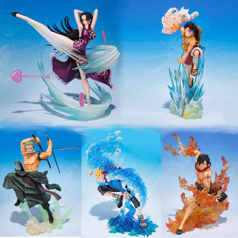 Action One Piece figure toys luffy Ace Sanji Zoro Marco sexy Hancock Model Seven Would The Sea Toys ONE PIECE Action Figure Set