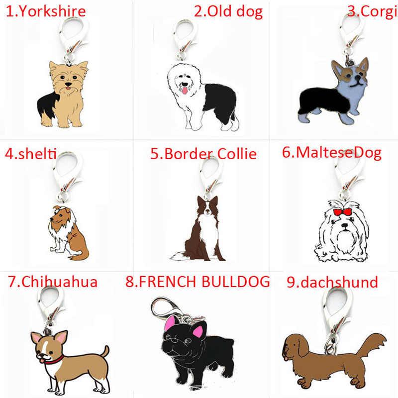 2 adet/grup Pet kolye DIY köpekler Charm araba aksesuarları erkek arkadaşı hediye Chihuahua kadın çanta uğuru kolye sevimli pet anahtarlık