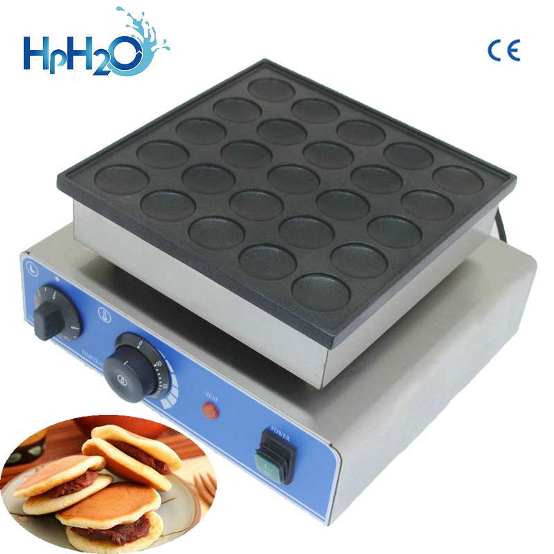 CE aprovado 110 V/220 V comercial 25 pcs Mini Máquina de Panqueca panqueca Holandês Poffertjes Grelha Waffle Maker l máquina de padeiro
