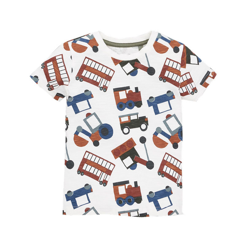 Boys Unicorn Print T shirt Kids Summer Cotton T Shirt Short Sleeve Car Printing Costumes For Baby Boy Casual Tees 2019 Design in T Shirts from Mother Kids