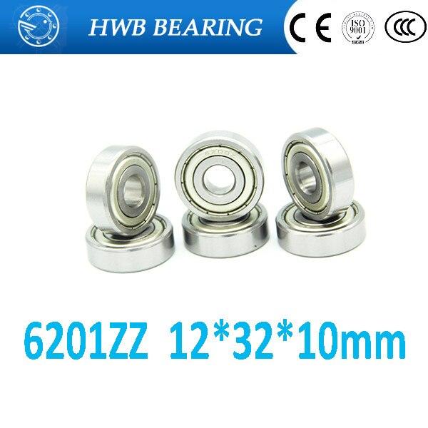 10Pcs 6201-2Z 6201ZZ 6201zz 6201 zz Deep Groove Ball Bearings 12 x 32 x 10mm Free shipping High Quality gcr15 6326 zz or 6326 2rs 130x280x58mm high precision deep groove ball bearings abec 1 p0